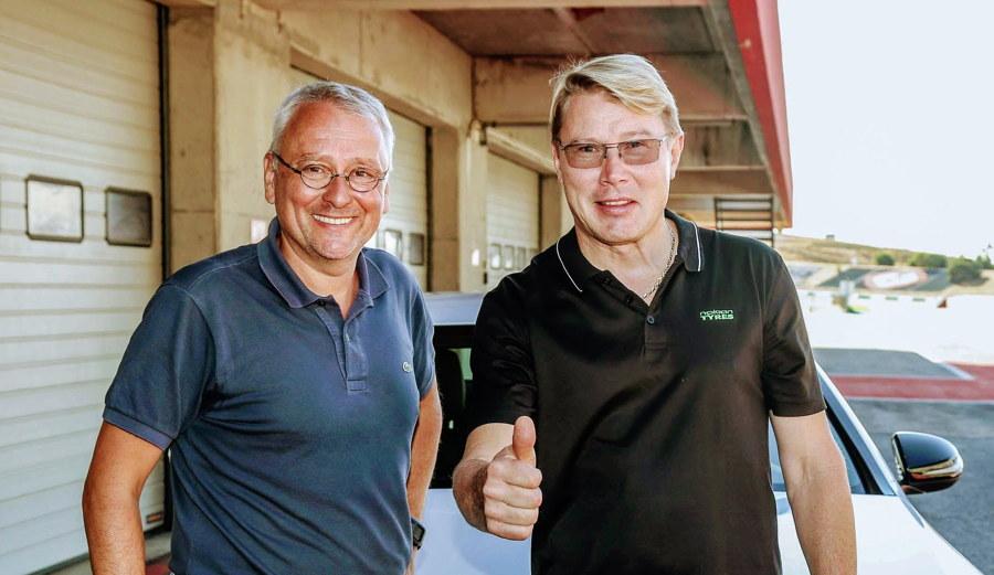 Mika Häkkinen auf der Piste.