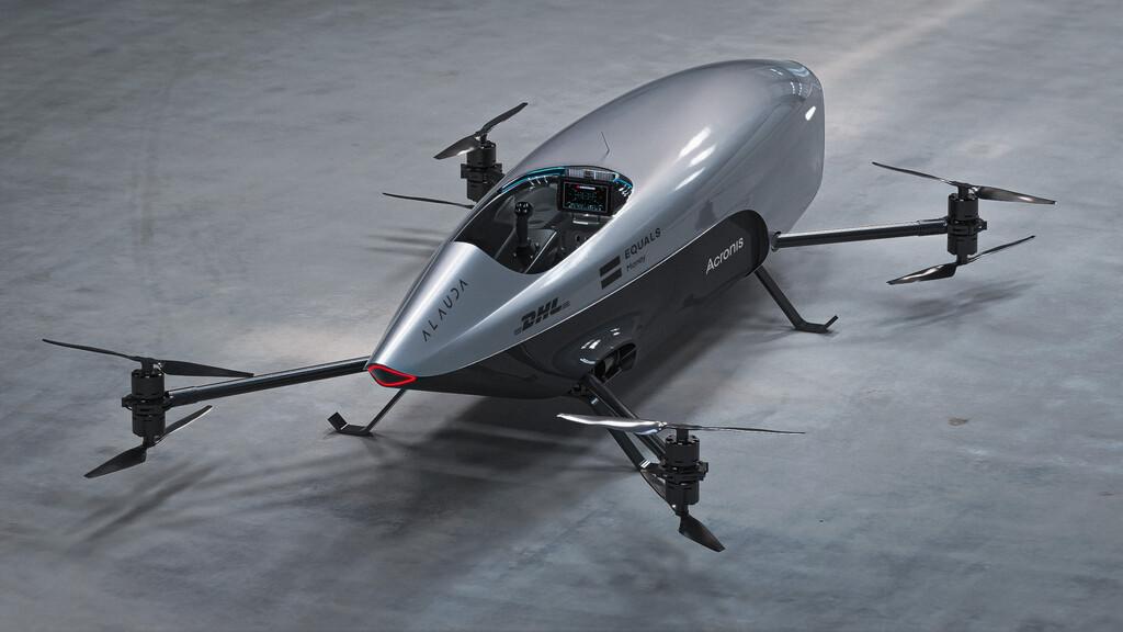 Eine Drohne.